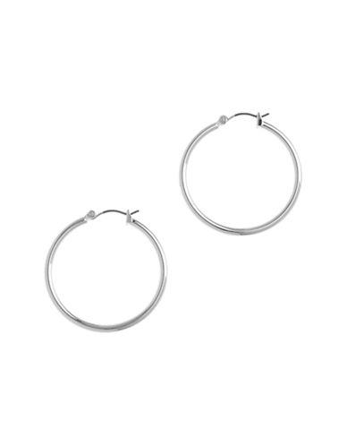 Nine West Pierced  Clickit Hoop Earring-SILVER-One Size