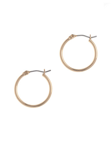 Nine West Pierced Small Clickit Hoop Earring-GOLD-One Size