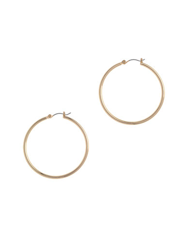 Nine West Pierced Gold Large Hoop Earring-GOLD-One Size