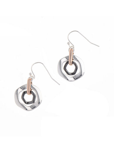 Nine West Orbital Hoops Earring-ROSEGOLD-One Size