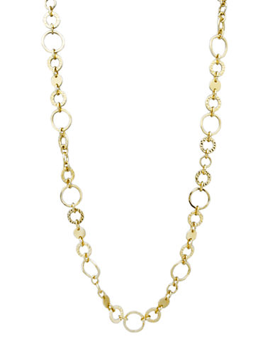 Nine West Chained Melody Link Strand Necklace-GOLD-One Size