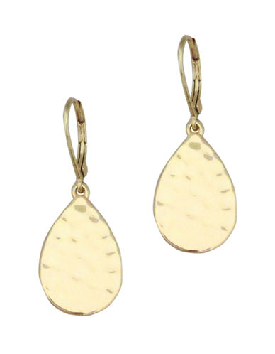 Nine West Gold Tone Metal Teardrop Earring-GOLD-One Size