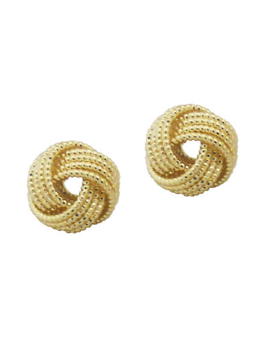 Nine West Gold Tone Mesh Knot Stud Earring-GOLD-One Size