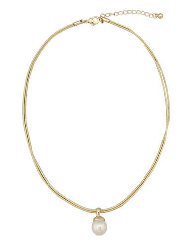 Cezanne Pearl Drop Necklace-IVORY-One Size