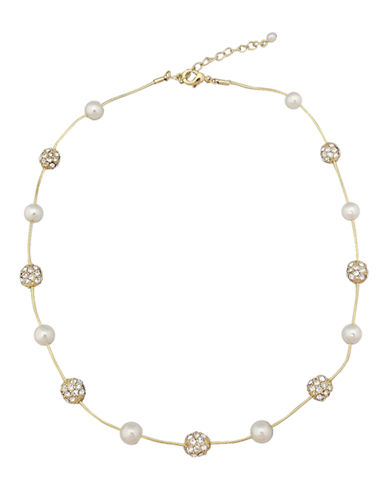 Cezanne Gold tone necklace-IVORY-One Size