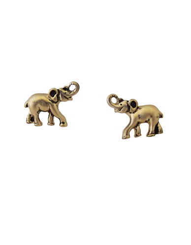 Lonna & Lilly Silvertone Elephant Stud Earrings-GOLD-One Size