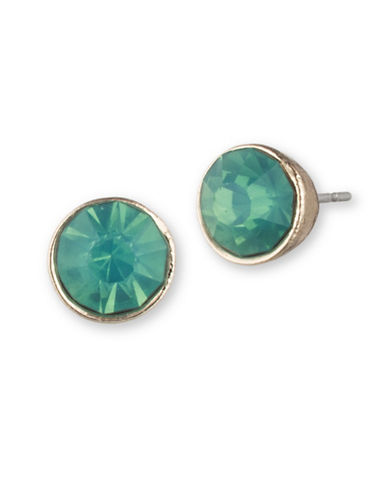 Lonna & Lilly Simple Circle Button Stud Earrings-GREEN-One Size