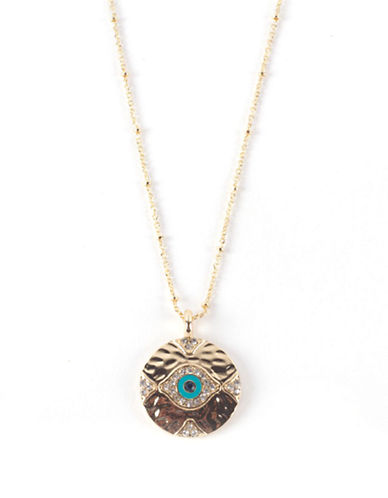 Lonna & Lilly Mixed Evil Eye Pendant Necklace-TURQUOISE-One Size