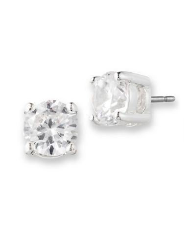Lonna & Lilly Simple Stone Stud Earrings-SILVER-One Size