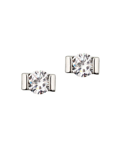 Lonna & Lilly Silvertone Stone Stud Earrings-SILVER-One Size