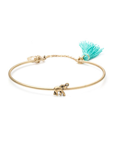 Lonna & Lilly Skinny Bangle Elephant Tassel Bracelet-BLUE-One Size