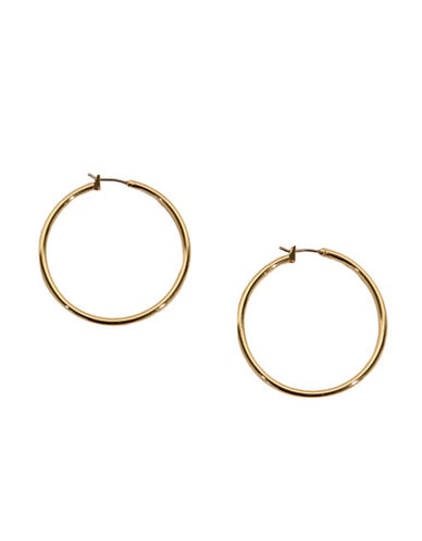 Anne Klein Large Hoop Earrings-GOLD-One Size