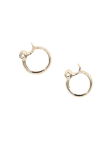 Anne Klein Small Clip Hoop Earrings-SILVER-One Size
