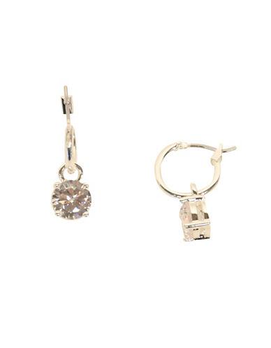 Anne Klein Silvertone Drop Earrings-SILVER-One Size