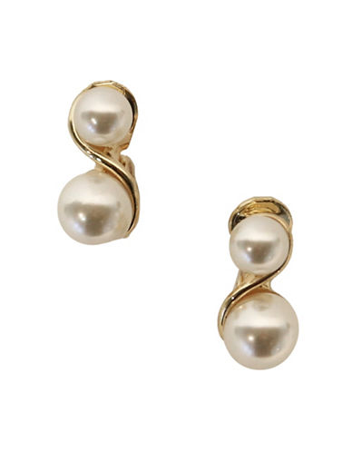 Anne Klein Faux Pearl Studs-NATURAL-One Size