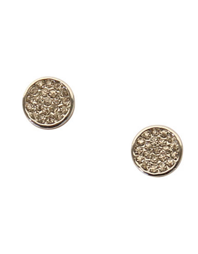 Anne Klein Pave Stud Earring-SILVER-One Size