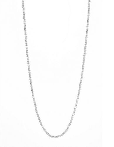 Anne Klein 42-Inch Pave Strand Necklace-SILVER-One Size