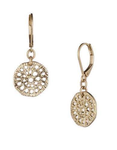 Lonna & Lilly Filigree Disc Dangle Drop Earrings-GOLD-One Size