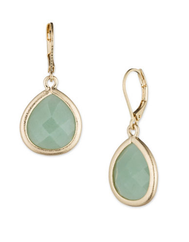 Lonna & Lilly Stone Dangle Drop Earrings-GREEN-One Size