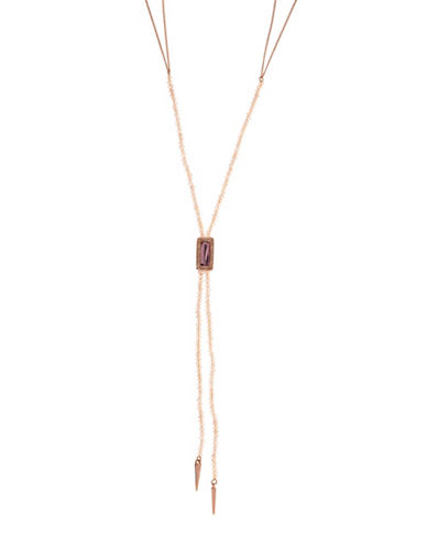 Lonna & Lilly Centre Pave Stone Y-Necklace-PINK-One Size