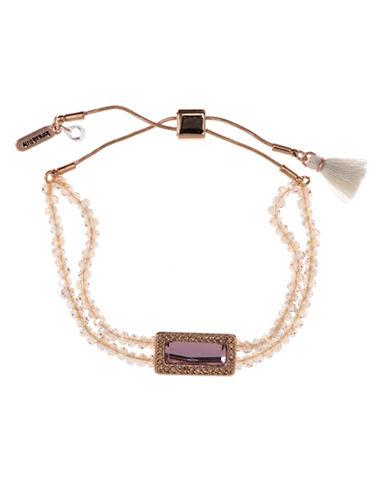 Lonna & Lilly Slider Bead Square Stone Bracelet-PINK-One Size