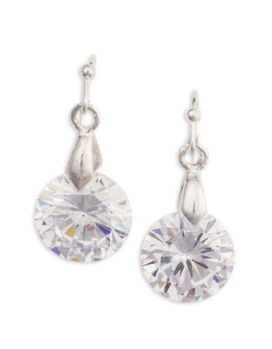 Cezanne Cubic Zirconia Drop Earrings-SILVER-One Size