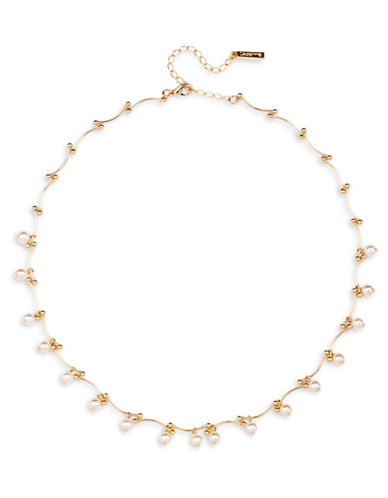 Cezanne 5MM Simulated Pearl Tattoo Necklace-BEIGE-One Size