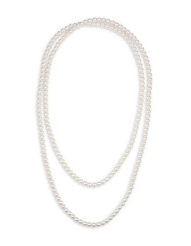 Cezanne Faux Pearl Necklace-BEIGE-One Size