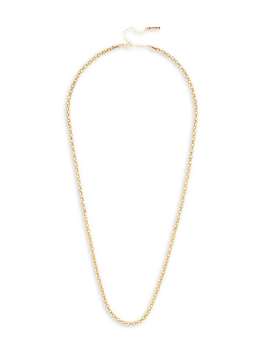Cezanne Long Pave Necklace-GOLD-One Size