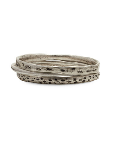 Garbo Three-Row Bangles-SILVER-One Size