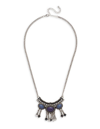 Garbo Pendant Necklace-BLUE-One Size