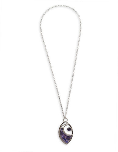 Garbo Artisan Pendant Necklace-PURPLE-One Size
