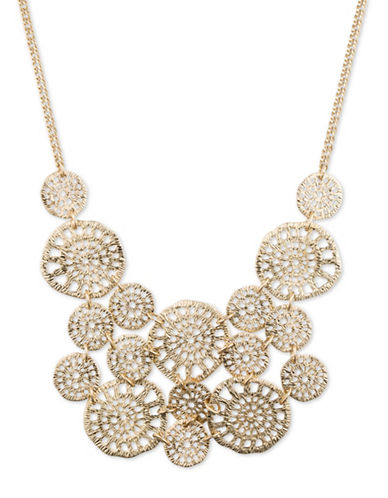 Lonna & Lilly Goldtone Filigree Frontal Necklace-GOLD-One Size
