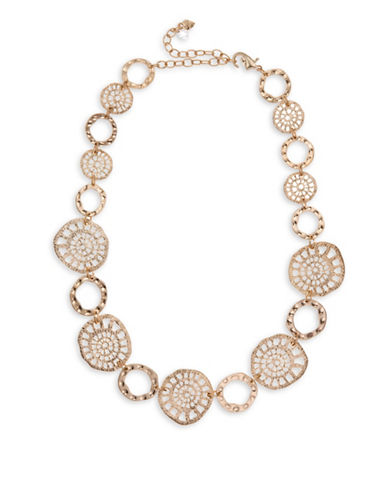 Lonna & Lilly Goldtone Coin Collar Necklace-GOLD-One Size