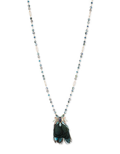 Lonna & Lilly Goldplated Multi-Colour Beaded Necklace-BLUE-One Size