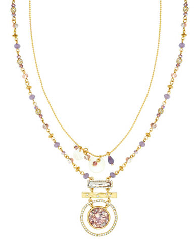 Lonna & Lilly Two Strand Abalone Necklace-GOLD-One Size