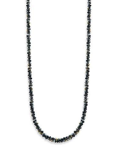 Anne Klein Goldplated Beaded Necklace-BLACK-One Size 88676358_BLACK_One Size