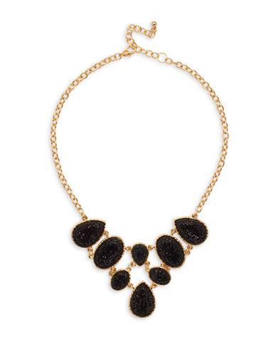Garbo Teardrop Link Necklace-BLACK-One Size