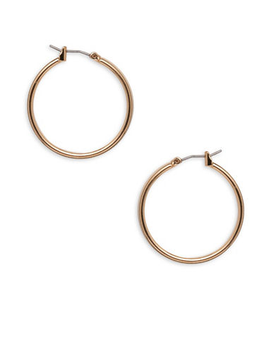 Garbo 1.2 inch Hoop Earrings-GOLD-One Size