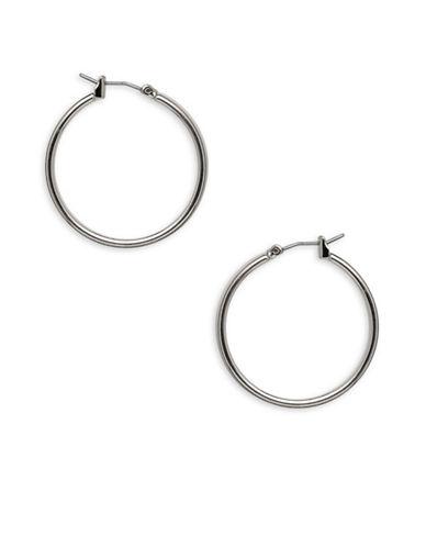 Garbo 1.2 inch Hoop Earrings-SILVER-One Size