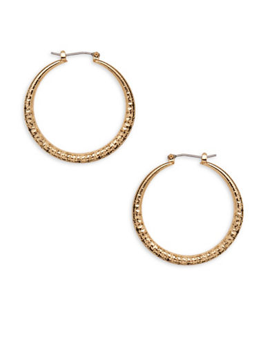 Garbo 1.5 inch Hoop Earrings-GOLD-One Size