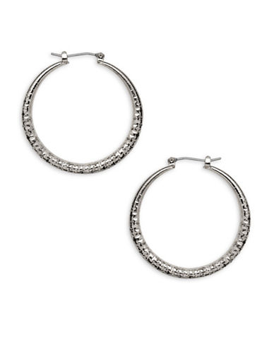 Garbo 1.5 inch Hoop Earrings-SILVER-One Size