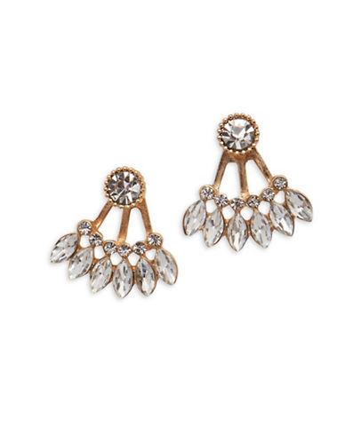 Cezanne Crystal Jacket Earrings-GOLD-One Size