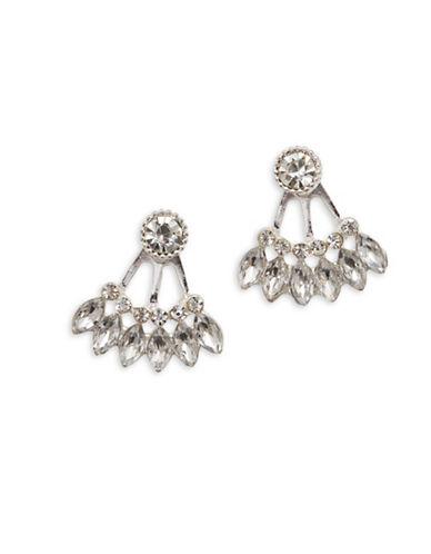 Cezanne Crystal Jacket Earrings-SILVER-One Size