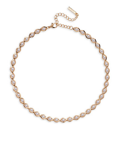 Cezanne Faux Pearl Necklace-BEIGE-One Size