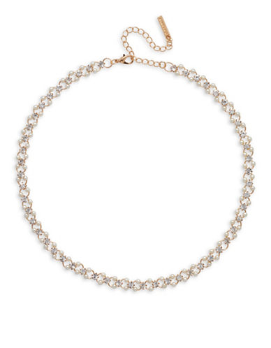 Cezanne Pearl Crystal Necklace-BEIGE-One Size
