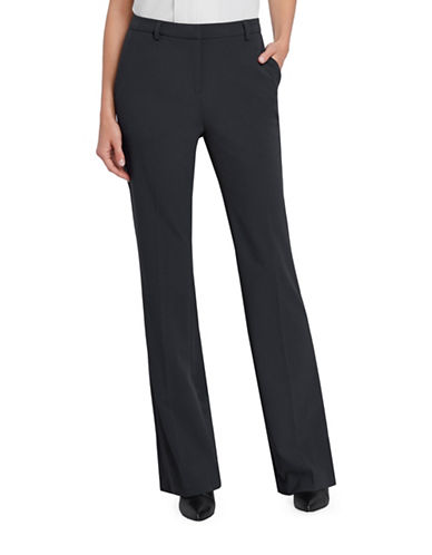 Ellen Tracy Signature Bootcut Pants-CHARCOAL-16