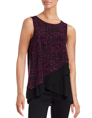 Ellen Tracy Layered Sleeveless Top-PINK-Large 88714002_PINK_Large