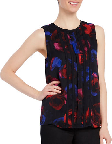 Ellen Tracy Double Layer Sleeveless Top-BLUE-Small 88846554_BLUE_Small