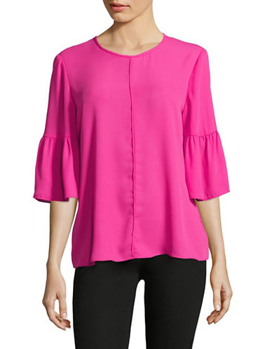 Ellen Tracy Lantern Sleeve Chiffon Top-PINK-Medium 88958667_PINK_Medium